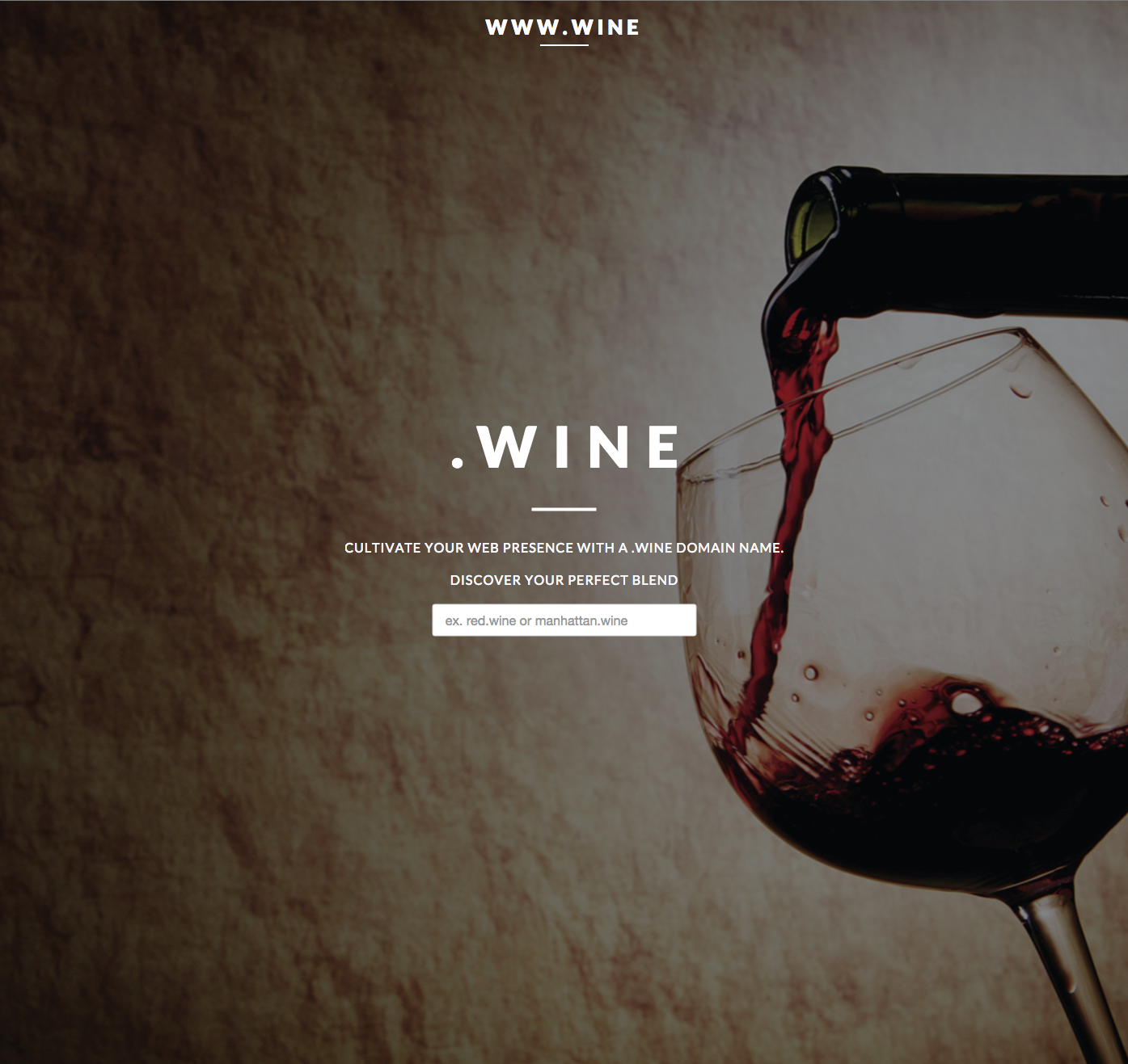 www.wine Website