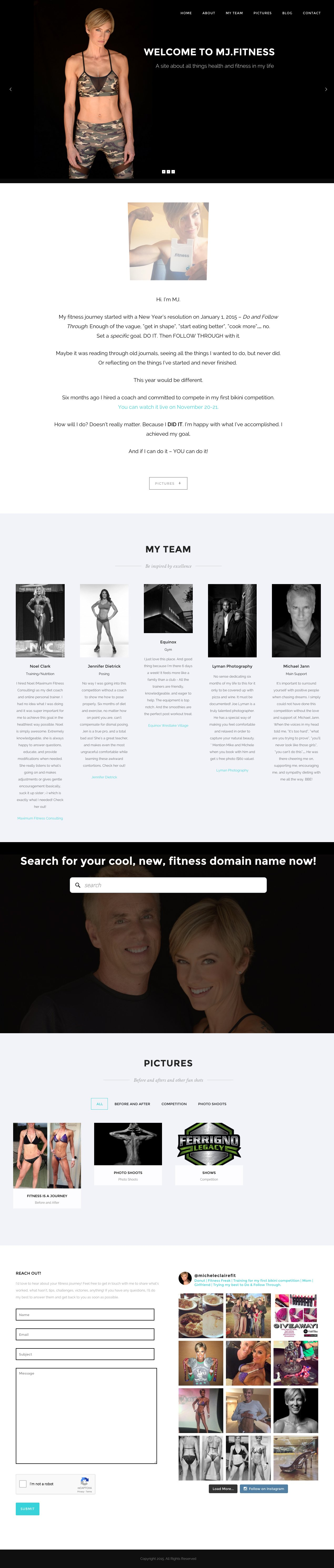 MJ.Fitness Website